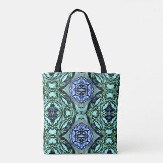 Funky aquamarines lila künstlerisches Muster Tasche