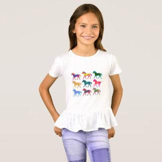 Funky Colts-Mädchen-Shirt T-Shirt