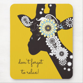 Funky coole Paisley-Giraffen-lustiges Tiergelb Mousepads
