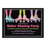 Funky Mädchen-Rollen-Skaten-Geburtstags-Party Personalisierte Ankündigungskarten