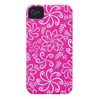 Funky rosa Blumen und Blätter 4/4S Fall iPhone 4 Hülle