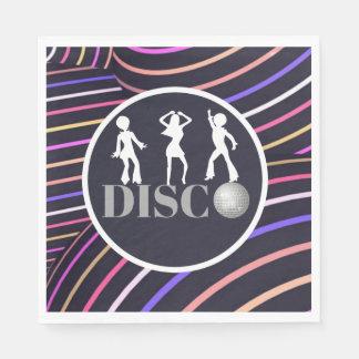 Funky Wirbels-Disco-Themasiebziger jahre Party Papierserviette