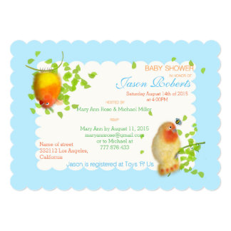Funny birds Custom Baby Shower Invitation_.
