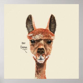 Funny Lama Plakat