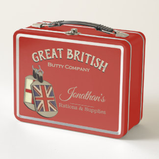 Funny Vintage Great British Butty Company Metall Brotdose