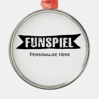 Funspiel kräuselnturnier für Spaß-Verzierung Silbernes Ornament