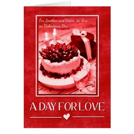 für Bruder und Schwägerin am Valentinstag Grußkarte