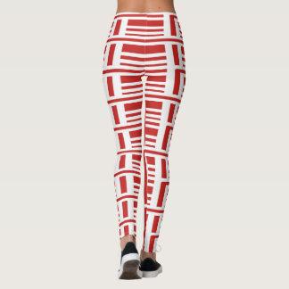 Für das mutige rote horizontale und die Vertikale Leggings