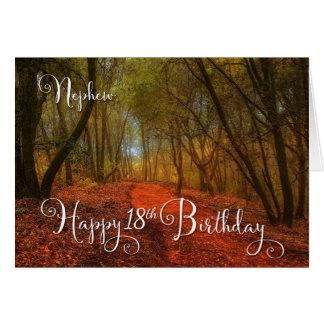 für den 18. Geburtstag des Neffeen - Waldweg Karte