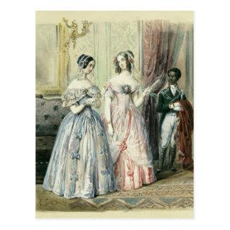 Für den Ball verlassen, 1830-48 Postkarte