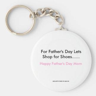Für den Vatertag lässt Geschäft für Schuhe ......, Standard Runder Schlüsselanhänger