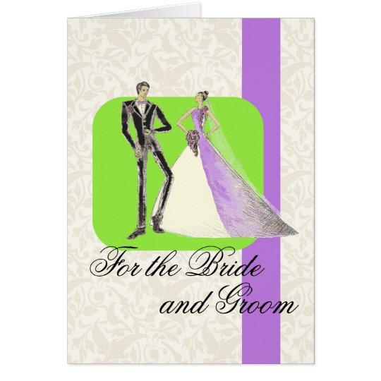 Für die Braut und den Bräutigam Grußkarte