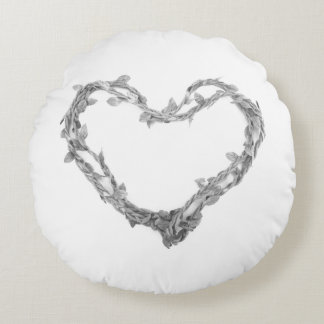 Für die Liebe des Dekors - Schnur-Herz-Kissen Rundes Kissen