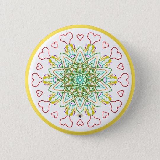 Für die Liebe des Feen-Abzeichens Runder Button 5,1 Cm