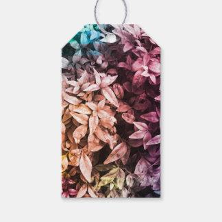 Für die Liebe des Gebens - multi Farbe mit Blumen Geschenkanhänger