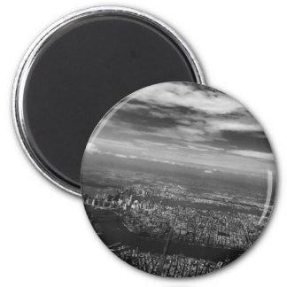 Für die Liebe von NYC - Skyline-Ansicht-Magnet Runder Magnet 5,7 Cm