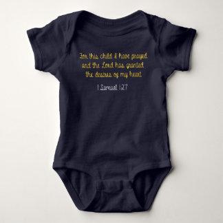 Für dieses Kind habe ich, 1 Samuel-Bibel gebetet Baby Strampler