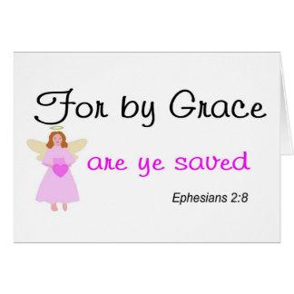Für durch Anmut sind YE gerettetes Ephesians 2:8 Karte