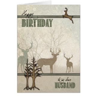 für Ehemann-Geburtstags-Rotwild im Wald Karte