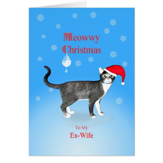 Für eine Ex-Frau Meowwy Weihnachtskatze Grußkarte