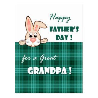 Für einen großen Großvater auf der Postkarten