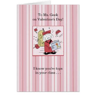 Für Frau Geek - Valentinsgruß Karte