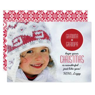 Für Großeltern Weihnachtsan den kundenspezifischen Karte