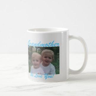 für Großmutter addieren Sie Ihre Fotogeschenk Tasse