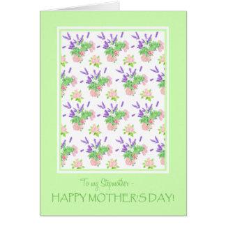 Für Gruß der Stiefmutter-hübschen Blumenmutter Karte