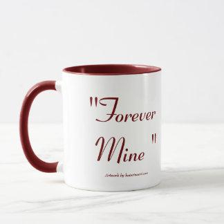 Für immer Bergwerk-Prinzessin Heart Locket Mug Tasse