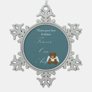 Für immer Engels-, Schwangerschafts- und Schneeflocken Zinn-Ornament