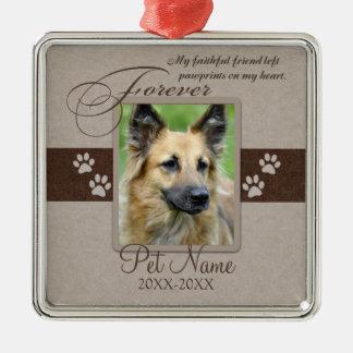Für immer geliebtes Haustier-Beileid Silbernes Ornament