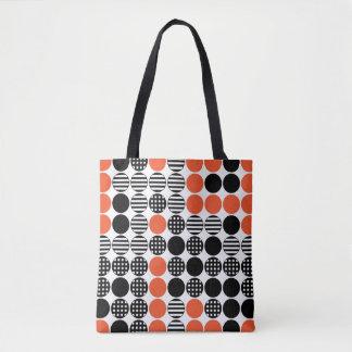 Für in Folge - Punkt-Entwurf - Schwarzes und Rot Tasche