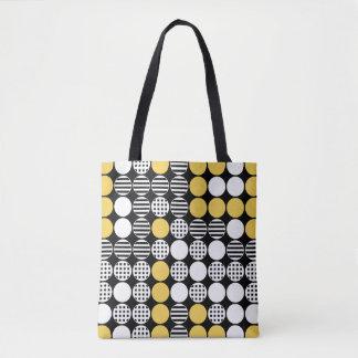 Für in Folge - Punkt-Entwurf - Schwarzes weiß, Tasche