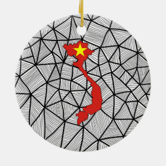 Für Kinder: Kreative Vietnam-Flagge mit Karte Keramik Ornament