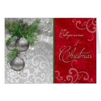 für Kollegen/Mitarbeiter am Weihnachten Karte