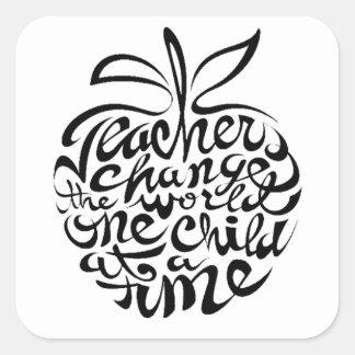 Für Lehrer Quadratischer Aufkleber