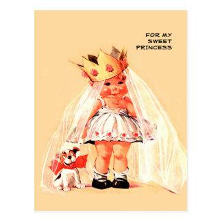 Für meine süße Prinzessin. Valentinstag-Postkarten Postkarte