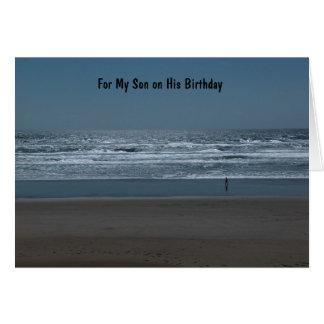 Für meinen Sohn auf seinem Geburtstag Karte