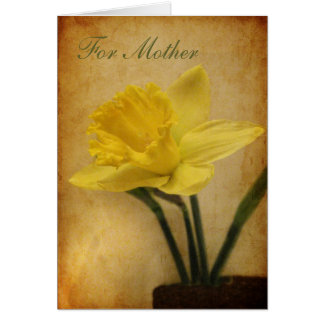 Für Mutter mit Narzisse Karte