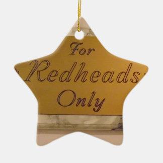 Für nur Redheads Keramik Stern-Ornament
