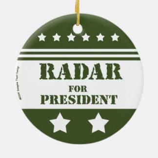 Für Präsidenten Radar Keramik Ornament