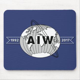 Für Schreibtisch AIW 25. Jahrestags-Logo Mauspads
