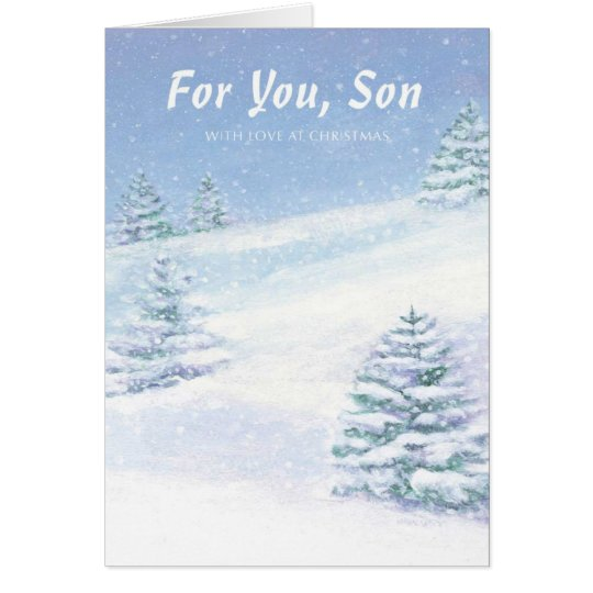 Für Sie Sohn mit Liebe am Weihnachten Grußkarte