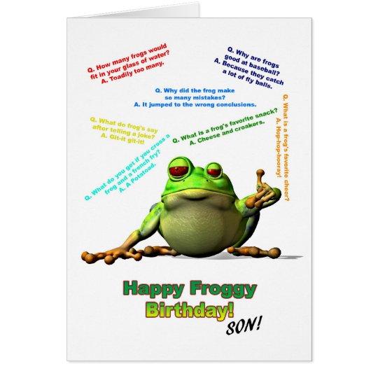Für Sohn scherzt Lose von Froggy Geburtstags-Karte Grußkarte