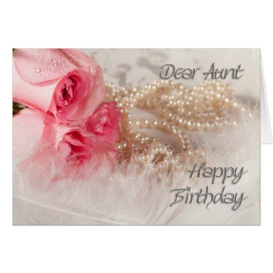 Für Tante, alles- Gute zum GeburtstagRosen und Grußkarte