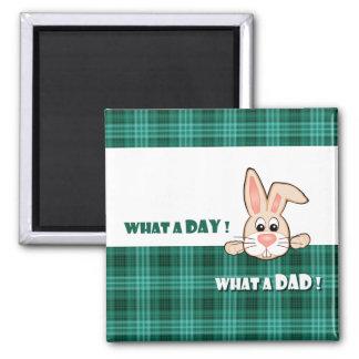 Für Vater auf der Vatertags-Geschenk-Magneten Quadratischer Magnet