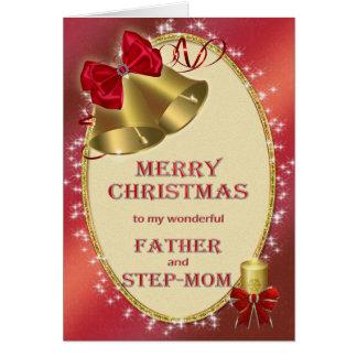 Für Vater und Stiefmutter traditionelle Grußkarte