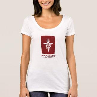 Furst 50. Jahrestag-Frauen rot T-Shirt