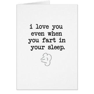 Furz in Ihrem Schlaf Karte